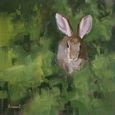 bunny rabbit, bunny painting, animal art, bunny art, rabbit art