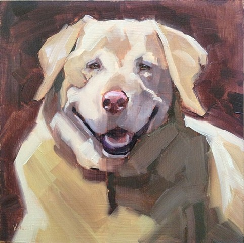 dog commissioned pet portrait oil painting patti vincent