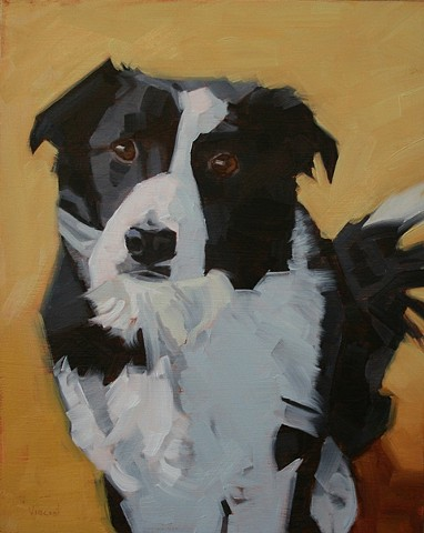 dog painting oil painting patti vincent pet portrait commission