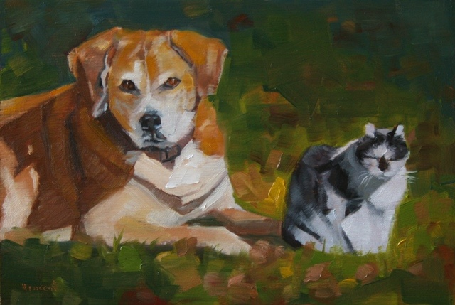 cat painting, dog  painting,  oil painting, pet portrait, commission, dog, cat