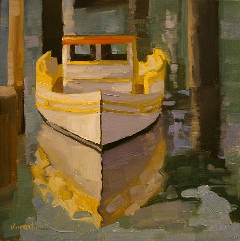 San Francisco, tug boat painting,boat painting, oil painting
