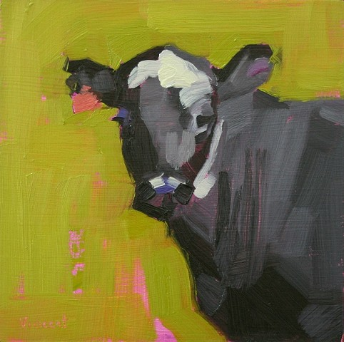 sold, original oil painting, cow, cow painting, art, animal art, cow art