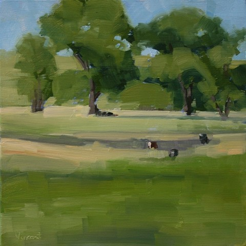 sold, oil painting, landscape, shadows, trees, Colorado landscape