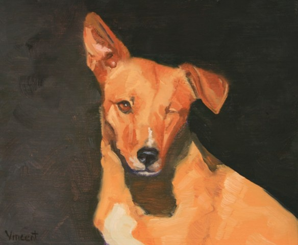 dog, dog painting, oil painting, patti vincent