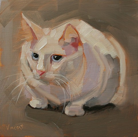 cat painting, feline oil painting, oil painting
