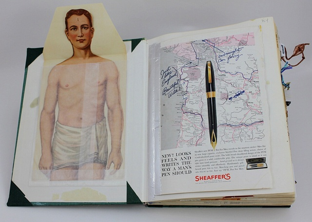 Man's pen/inside front cover