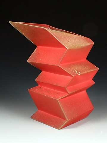 Geometric Vaz Red/Pink