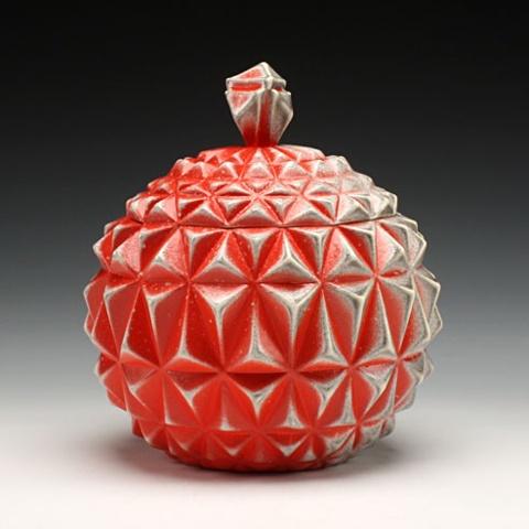 Red Globe Jar