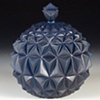 Blue Geometric Jar