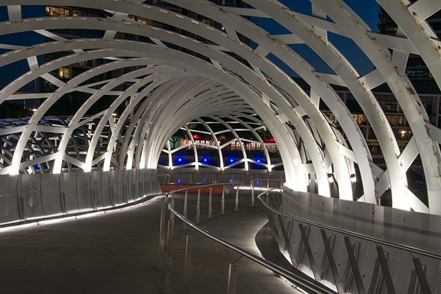 Webb Bridge is a Pedestrian Bridge, amazing architecture.