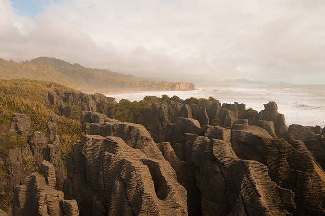Pancake Rocks at Punakaiki on the west coast of the South Island