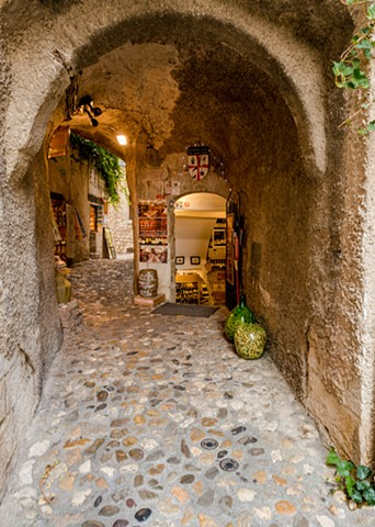 Wine Cellar in the Alley in St Paul de Vence, France