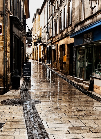 Rainy Reflections St Emilion France