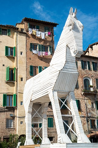 Statue of a Horse from the Palio Horse Race in Siena Italy