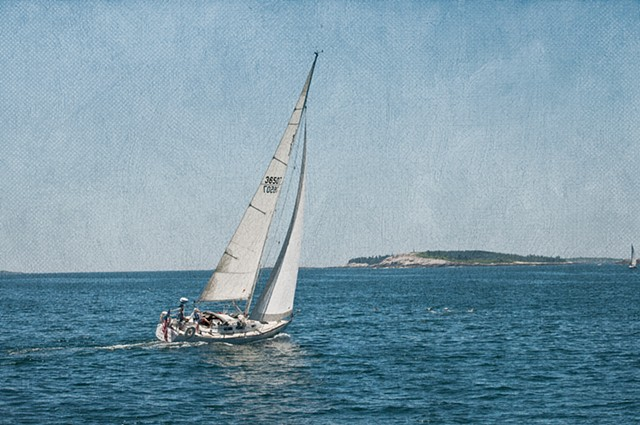 Sailboat Racing across the Seas on the Maine Coast