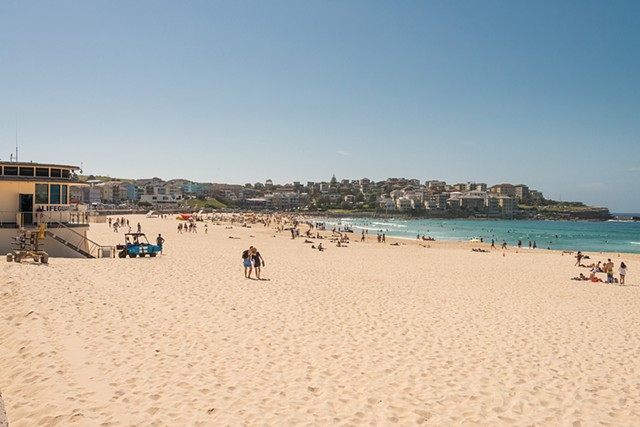 A day at Bondi Beach in Sydney Australia by the Lifeguard Shack