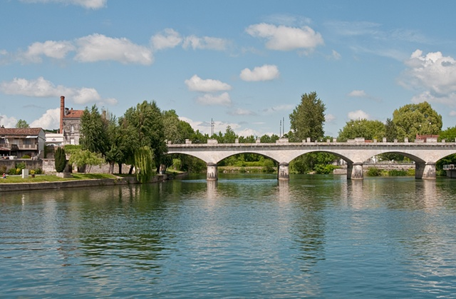 Bridge over the River Cognac, France