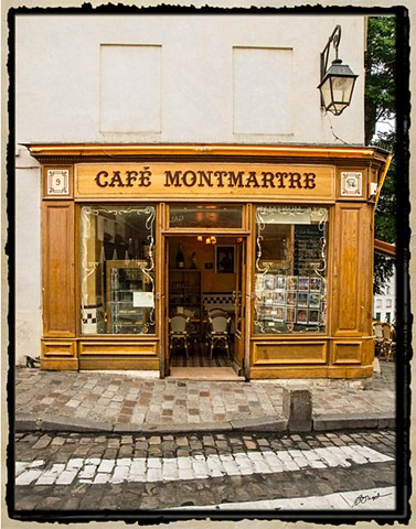 Cafe Montmartre near Sacre Coeur Church