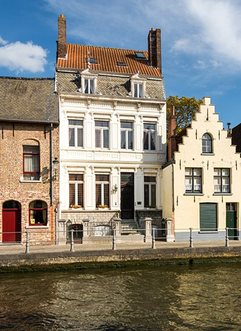 The houses in Bruges are very distinctive making walks along the canals a pleasure.