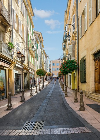 Lovely street in Antibes in the South of France