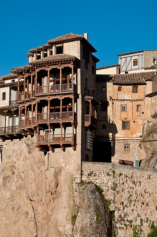 Hanging Houses in Cuenca Sunrise in Cuenca, Spain