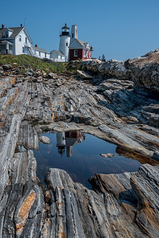 Beautiful Reflections of the Lighthouse at Pemaquid Point