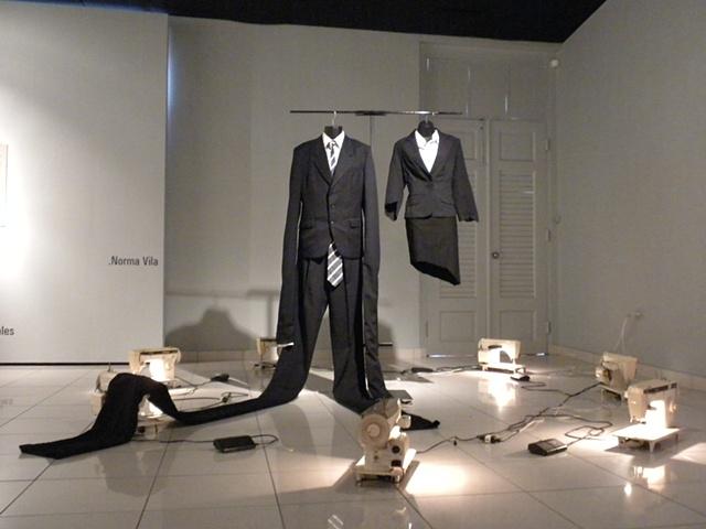 """Unsewing Inequalities presented in """"Los desalojados, colectiva de los artistas moradores del área"""", Museo de Arte de Caguas. Curated by Elsa María Meléndez 2010"""