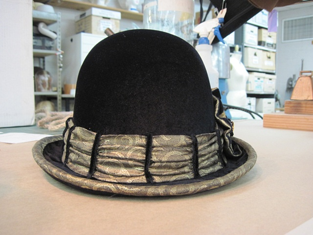 Trim and Cocade- added to existing hat