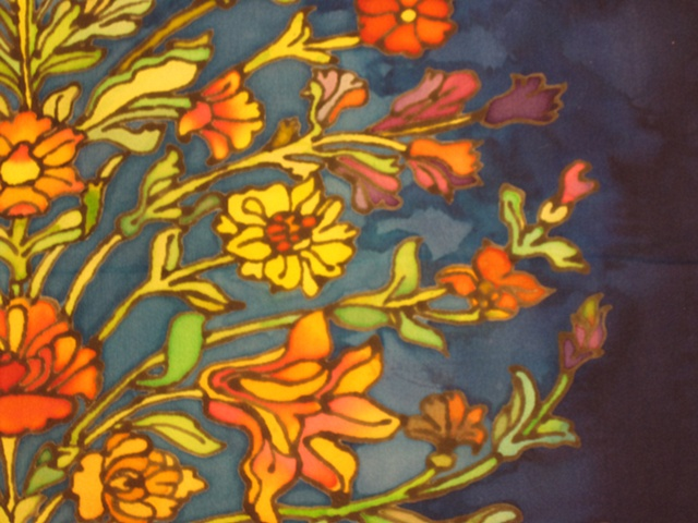 Silk Painting Detail