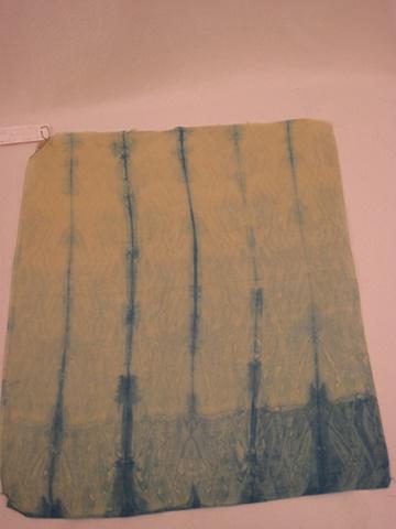 Shibori Pole Wrap on China Silk