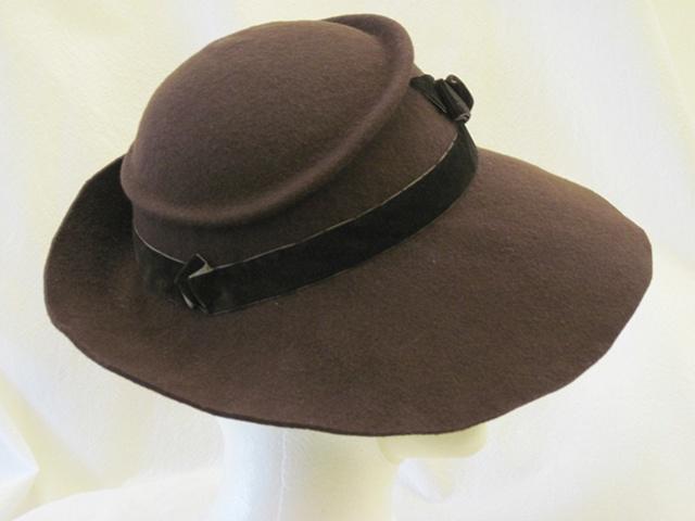 1930's Blocked Felt Hat- 2010