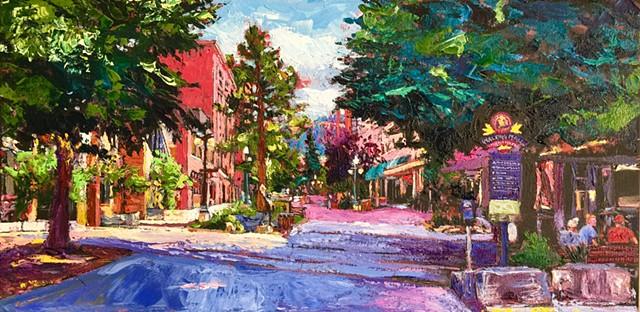 Helena Montana, Main Street Montana, State Capital, acrylic painting