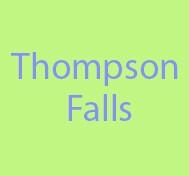 Thompson Falls Montana, Main Street Montana, Acrylic Painting