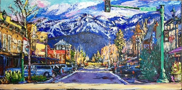 Whitefish Montana, skiing, small town, old western town, resort, winter