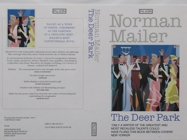 """Book Cover for Norman mailer """"Deer Park"""" © 1987"""