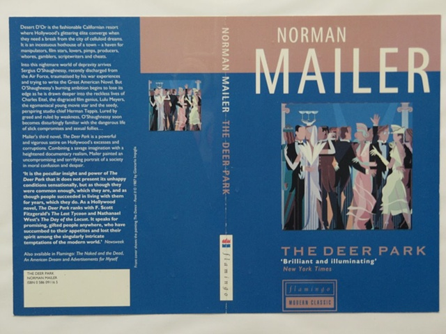 """Book Cover for Norman Mailer """"Deer Park"""" (Commissions) © 1987"""