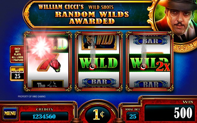 The Godfather 3RM, William Cicci Wild Bonus screen