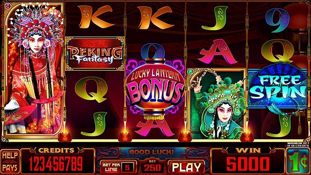 Peking Fantasy slot game Base screen