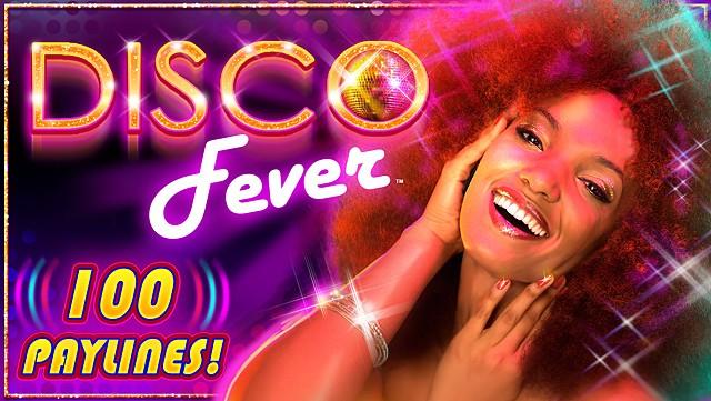 Disco Fever slot game Title Screen