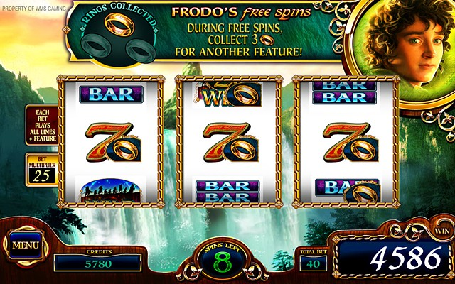 Lord of the Rings-The Fellowship, Free Spins Screen