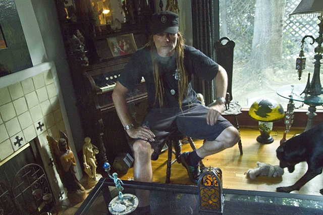CEvin Key, founding member of Skinny Puppy at home.
