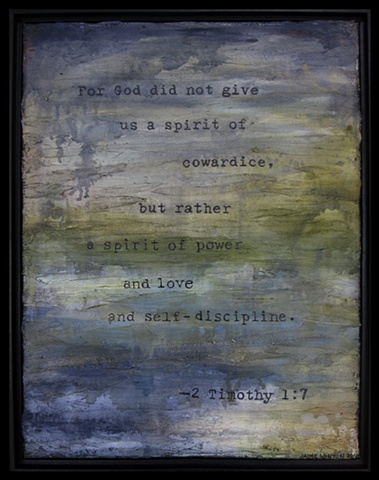 Timothy art, scripture, Jaime Winton, abstract, blue, green