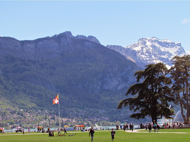 people, summer, ete, lake, mountains, green, picnic, park, Annecy.