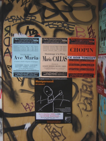 Posters on Paris Building