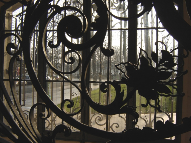 Looking out from Le Petit Palais