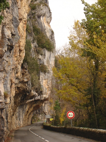 Road through Cliffs