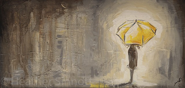 Girl with the Yellow Umbrella