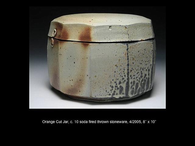 Orange Cut Jar