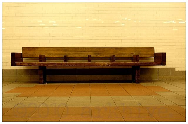 subway  bench new york city