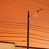'orange sky + power lines'